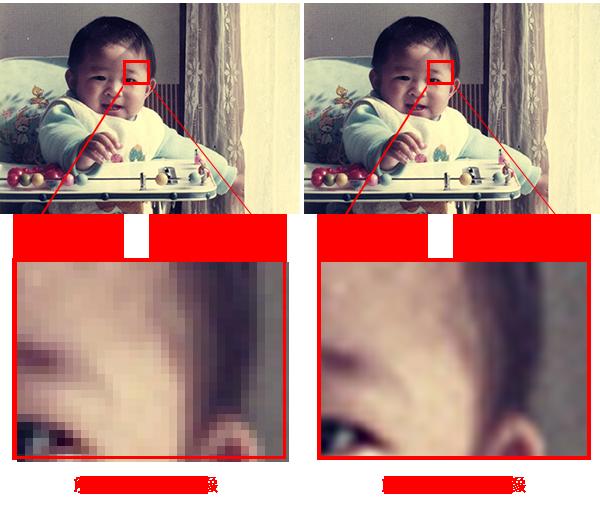 解像度の異なる画像の比較